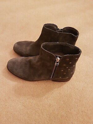 Next Girls Boots Grey Size 4 Worn Once