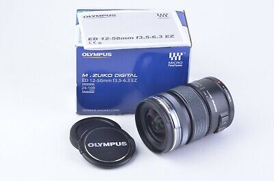 MINT- BOXED OLYMPUS 12-50mm F3.5-6.3 M.ZUIKO ED EZ MSC AF LENS FOR MICRO 4/3
