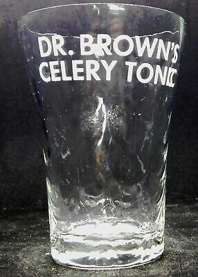 """Dr. Brown's Celery Tonic.  Inside bevels, modified flare. Thin glass. 3 3/4"""""""