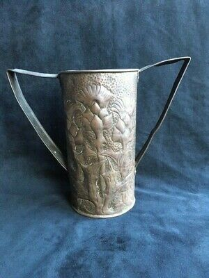 An Original Arts & Crafts Copper Vase, Style of John Williams with Thistle Decor