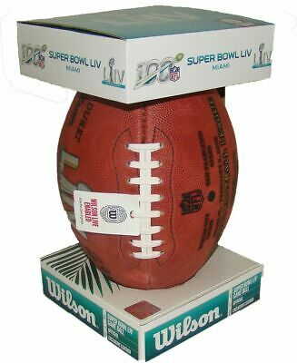 Super Bowl LIV 54 Chiefs 49ers Wilson Official Leather Authentic Game Football