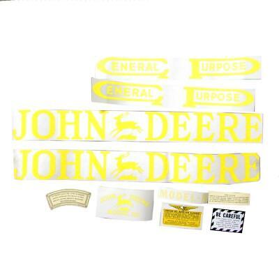 Tractor Decal Set fits John Deere B Unstyled Vinyl Cut Free Shipping