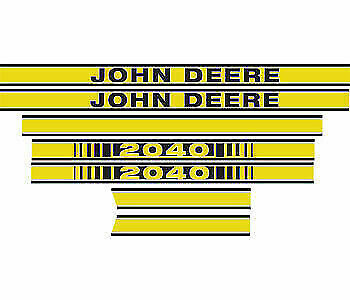 Decal Hood Set fits John Deere JD412 2040