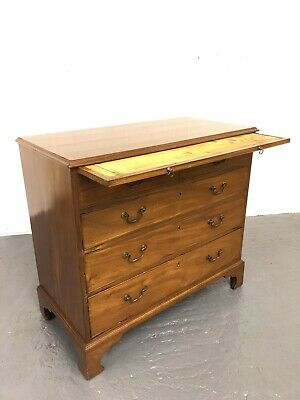 Antique Georgian George III Mahogany Chest of Drawers With Brushing Slide
