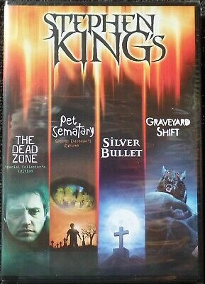 PET SEMATARY Dead Zone SILVER BULLET Graveyard Shift DvD STEPHEN KING Horror NEW