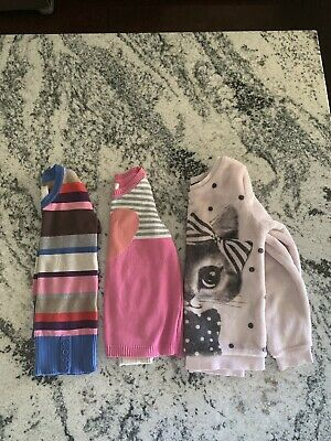 toddler girl Sweaters Lot Of 3 Size 2 To 6