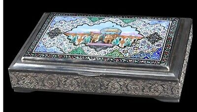 MAGNIFICENT ANTIQUE RUSSIAN SILVER BOX 84 FOR EASTERN Market IMPERIAL