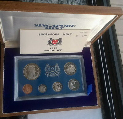 Singapore 1973 Lion Mint Box Set of 6 Coins,Proof,Rare