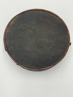 Very Early Antique WOODEN DRUM CANTEEN Rare!