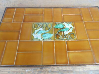 Panel of beautiful Art Nouveau Majolica tiles from the Victorian era~Oakleigh
