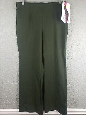 NWT Women With Control Womens Petite Pants Sz MP OD Green Stretch Causal Career