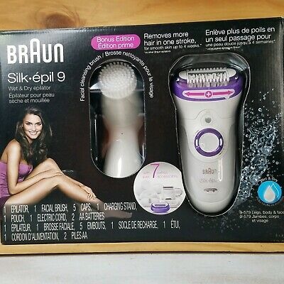 Braun Silk Epil 9 9-579 Wet & Dry Cordless Epilator Hair Removal