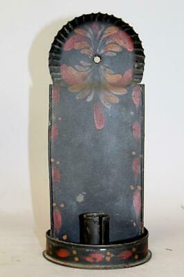 The Best Early 19Th C Tin Toleware Paint Decorated Candle Sconce Original Paint