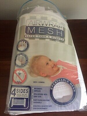 Airwrap Mesh 4 Sides Protect against Bumps Breathable Cot Crib