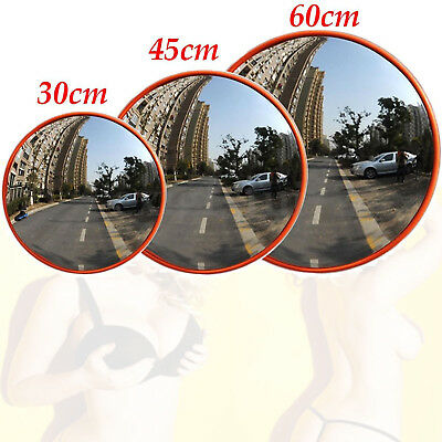 "Outdoor Road Traffic Convex Mirror Wide Angle Driveway Safety Security 12""-24"""