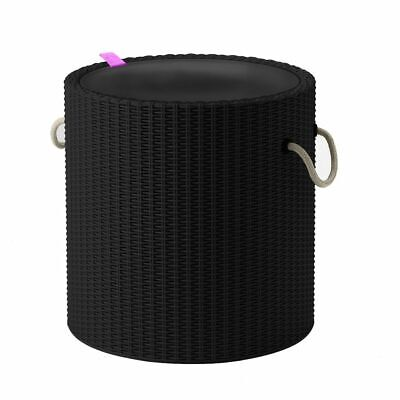 Keter Cool Stool with Rope Handle Charcoal Ourdoor Drink Cooler Storage Table#