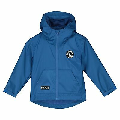 Chelsea Football Shower Jacket Top Blue Boys
