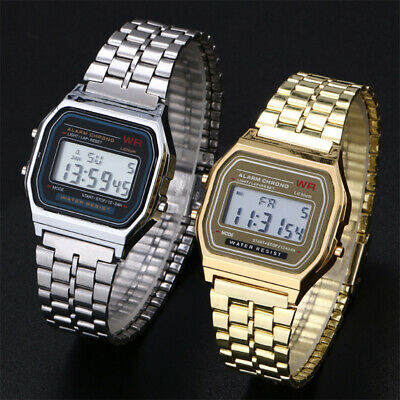 CASIO Retro Classic Unisex Digital Stainless Steel Bracelet Watch-A168WA-1
