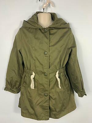 Girls Zara Khaki Green Light Weight Hooded Summer Coat Jacket Kids Age 10 Years