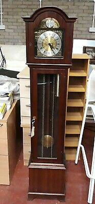 Tempus Fugit Grandmother Clock Westminster Chime c/a 1920. For spares or repair.