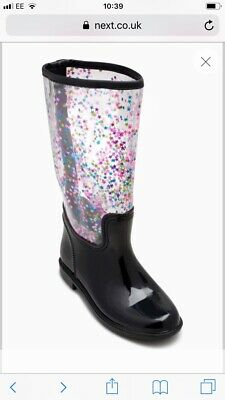 Next Girls BNWT Star Wellies sz 10 (RRP £22)