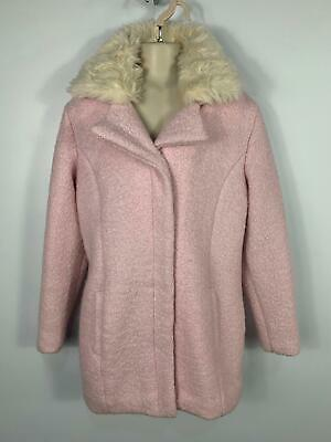 Girls Marks&Spencer Light Baby Pink Winter Jacket Over Coat Kids Age 11/12 Years