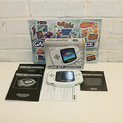 Grey / White Gameboy Advance Handheld Console - 32 Bit Wide Color Screen - Boxed