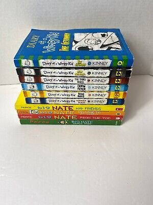 DIARY OF A WIMPY KID BIG NATE 10 BOOK SERIES LOT Set JEFF KINNEY