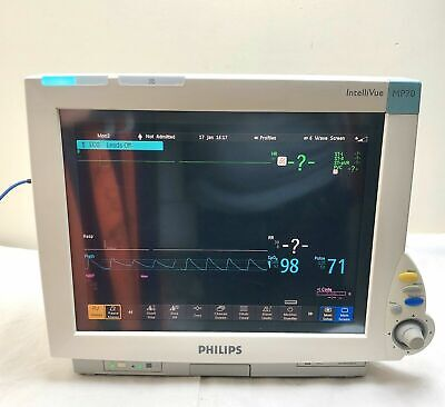 Philips Mp70 Touchscreen Patient Monitor 2007 No Module Or Leads