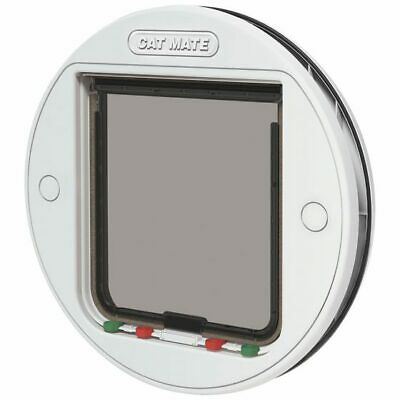 Cat Mate Large Glass Fitting Cat Flap, White 357W - NQP