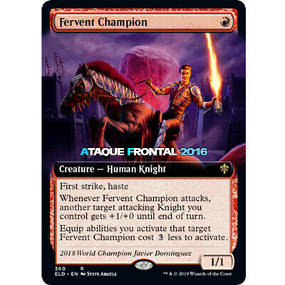 MTG Fervent Champion - Throne Of Eldraine Extras Cards English - Neu
