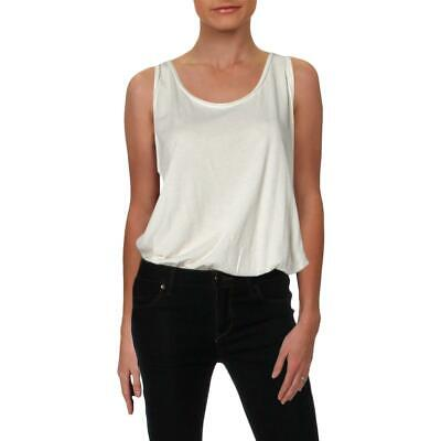 Intimately Free People Womens All About The Back White Bodysuit M BHFO 1119