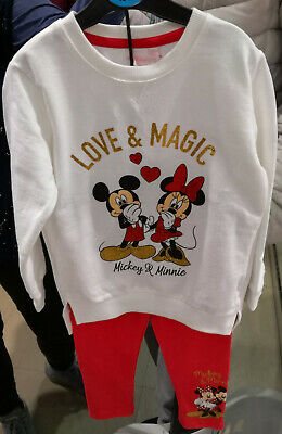 Girl's PJ Pyjama set Minnie Mickey Mouse Disney Official Sizes 3-4Yrs to 7-8Yrs