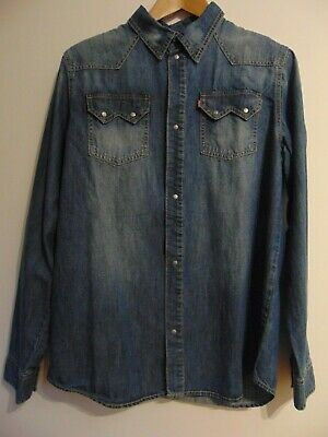 Levis Denim Austen Shirt Red Tab Boys 16 yrs Indigo Blue Brand New with Tags