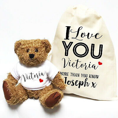 Valentines Day Teddy Bear | I Love You More | Personalised