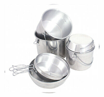 Mil-Com Billy Can Nesting Pan Set - 6 piece Silver