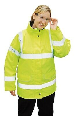 265 Yellow Hivis Ladies Jacket Lrg S360YERL Portwest Genuine Top Quality Product