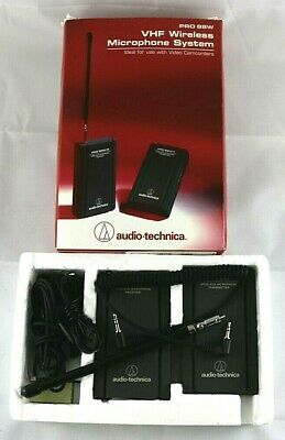 Audio-Technica PRO-88W Wireless Microphone Receiver, Transmitter, Lavalier Mike