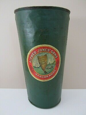 Vintage Maple Syrup Tin Sap Bucket green paint finish Alfred Jones 'Sons sticker