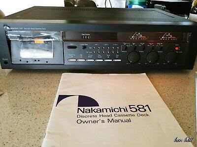 Nakamichi cassette deck .581 3 Head .With owners Manual.
