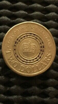 2013 $2 Two Dollar Coin - Purple 60th Anniversary Queens Coronation..circulated.