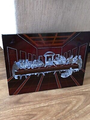 The Last Supper Mother Of Pearl Laquered Plaque/wall Art