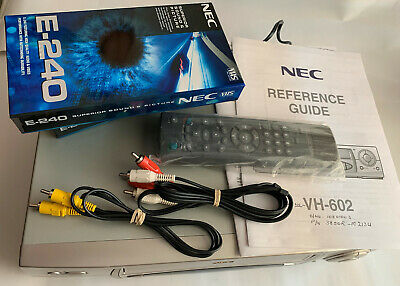 NEC VH-602 VHS Recorder/Player NTSC Playback & FREE Tapes