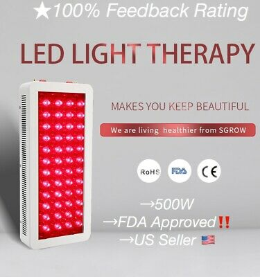 SGROW Red Near Infrared LED 660nm 880nm 500W Full Body Red Light Therapy