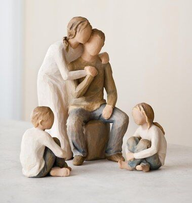 Willow Tree Figurines Set Mother & Father with Son & Daughter