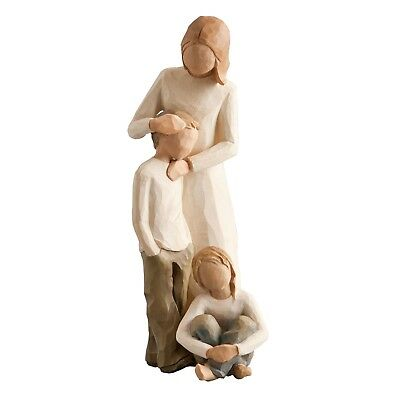 Willow Tree Figurines Set Mother & Son with Daughter