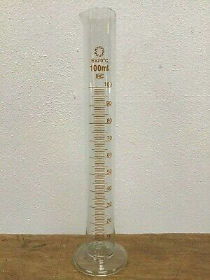 100ml Glass Graduated Measuring Tube With Pouring Lip, Home Brew Clear Beaker M4