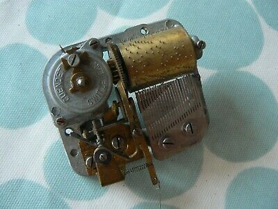 Small Vintage Swiss Musical Box Movement - Working - Cuendet