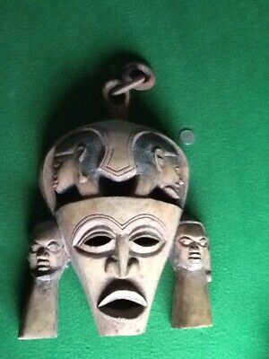 Carved Wooden Antique Style African Wall Mask