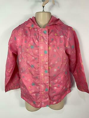 Girls M&Co Pink Star Casual Light Weight Summer Coat Jacket Kids Age 5/6 Years